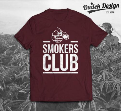 SMOKERS CLUB ADDICTED T SHIRT DOPE CANNABIS 420 KHALIFA MEN TOP WOMEN MARIJUANA