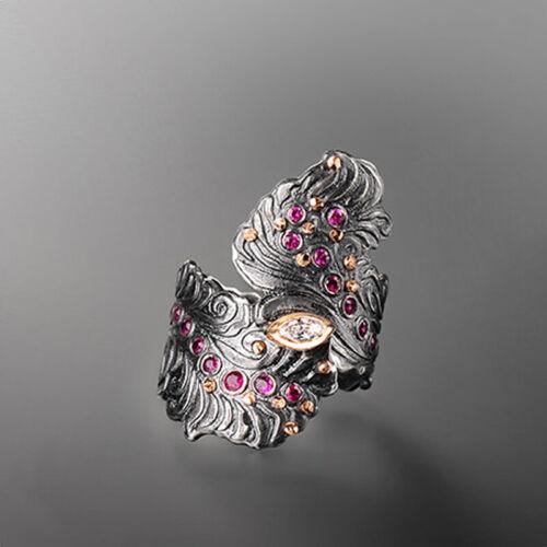Infinity 925 Silver Women Wedding Rings Ruby/&Topaz Fashion Jewelry Size 6-10