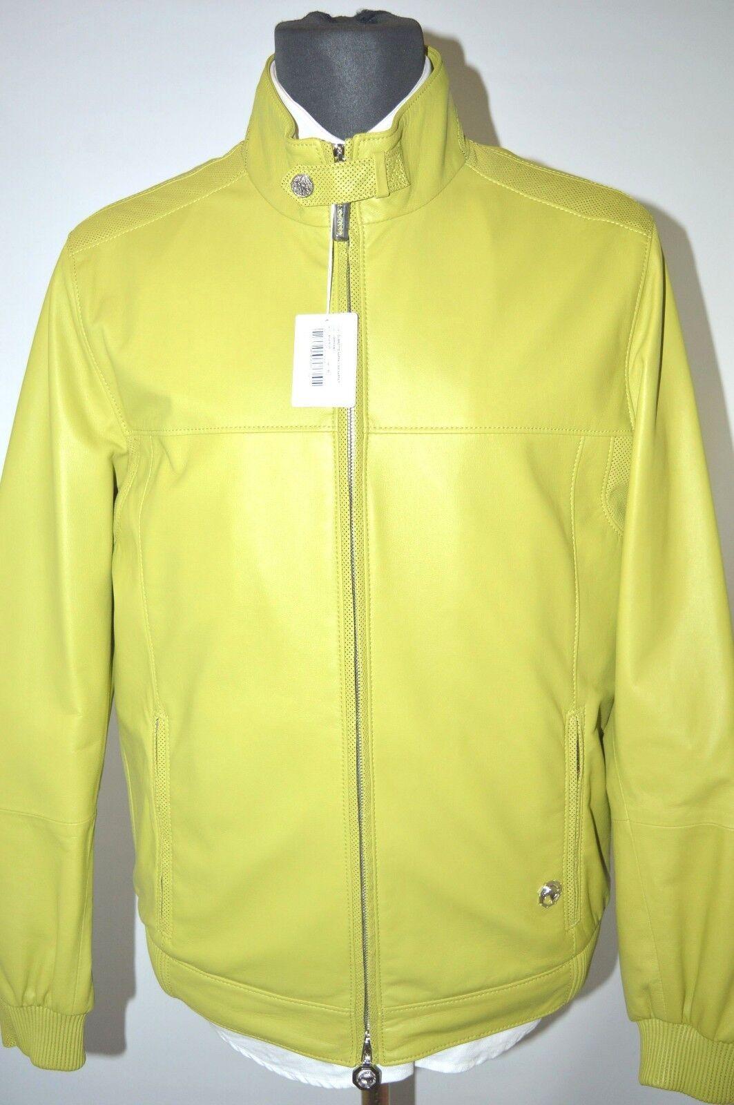 NEW 9700,00  STEFANO RICCI  Outwear  Coat  Leder  Us  M Eu 50 (G4)