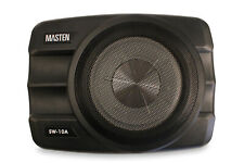 Masten 10 inch Powered Under Seat Compact Amplified Subwoofer with Super Slim Enclosure