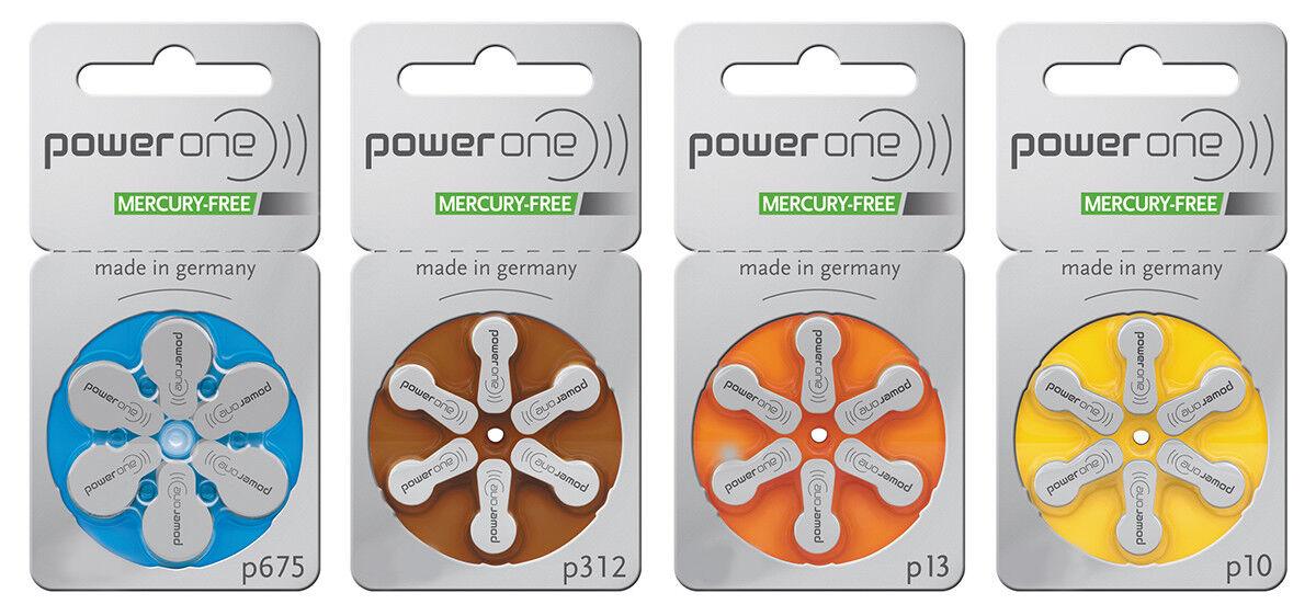 PowerOne Hörgerätebatterien Hörgerät Typ  p10, 10,  DA10, S10, PR70, ZL4,  ZL10 | Züchtungen Eingeführt Werden Eine Nach Der Anderen