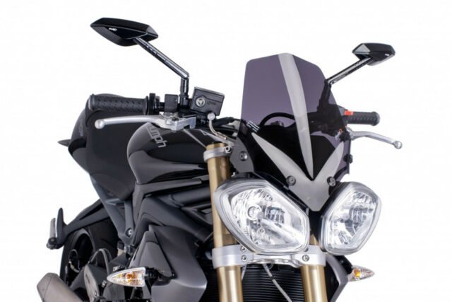 PUIG NAKED N.G. SPORT SCREEN TRIUMPH SPEED TRIPLE 1050/R 12-15 DARK SMOKE
