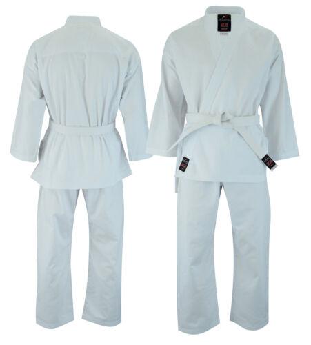 Malino Karate Gi Suit Kids Men Adult Uniform Free Belt Cotton 8oz White//Black