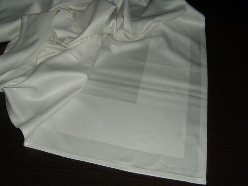 Tischdecke Tafeltuch 180x180 cm Gastroware Baumwolle  Atlaskante  weiß