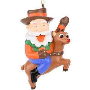 Tree-Buddees-Cowboy-Santa-Riding-Rudolph-Christmas-Ornament-Funny-Xmas-Winter