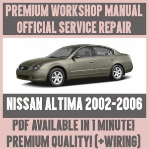 workshop manual service repair guide for nissan altima 2002 2006 rh ebay co uk 2006 Nissan Altima Engine 2009 Nissan Altima