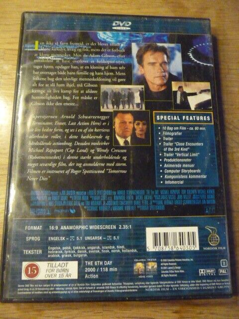 The 6th day, DVD, action