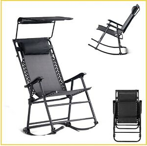 Superb Details About Zero Gravity Rocking Chair Porch Lounge Chairs Patio Armchair Foldable Black 33 Ocoug Best Dining Table And Chair Ideas Images Ocougorg