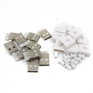 10pcs Mâle Connecteur Usb Usb 2.0 Plug Adaptateur Kit De Type A 5p À Faire Soi-même Composants (l49)-afficher Le Titre D'origine Qwtq7vmh-07231129-971631203
