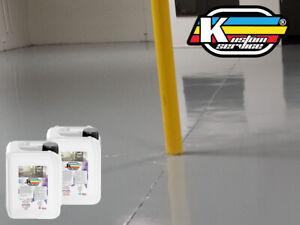 Resina Per CEMENTO Pavimenti Epossidica Colorata Lucida 5Kg A+B Alta Adesione