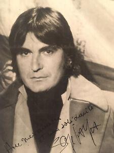 Autographe original Carte dédicacée Serge Lama