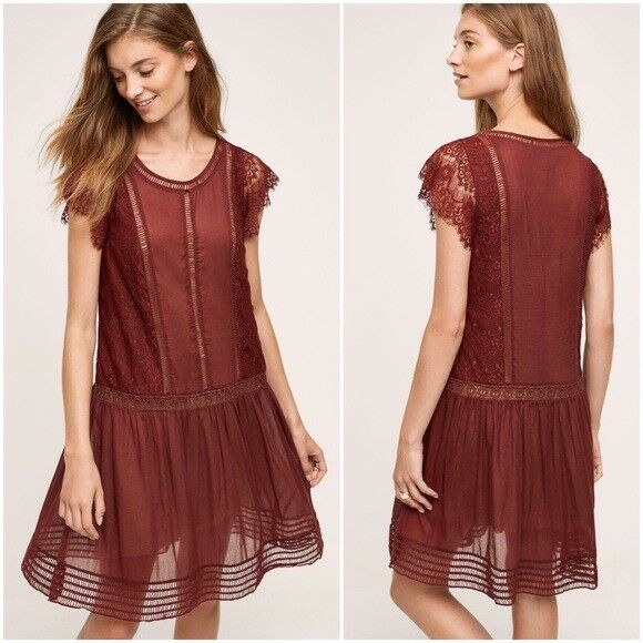 48fdc6119facc FLOREAT SWEETWATER LACE DRESS NWOT ANTHROPOLOGIE 6 nnjtau4148-Dresses