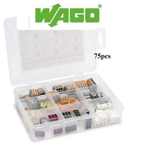 Wago Installation De base Boîte Connecteurs choix 75 Pièce Kit Leviers et PushFit
