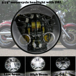 5-75-5-3-4-034-Moto-6000K-LED-Phare-Hi-Lo-Projecteur-DRL-Headlight-Pour-Harley-Honda
