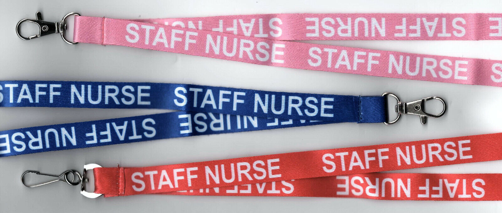 1 x STAFF NURSE Printed Hospital Safety Breakaway Lanyard 3 Colours: FREE UK P&P