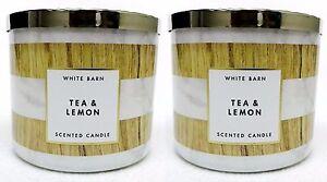 2-Bath-amp-Body-Works-White-Barn-TEA-amp-LEMON-3-Wick-Scented-14-5-oz-Candle