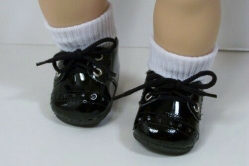 """BLACK Patent Boy Dress Up Doll Shoes For 15/"""" Bitty Baby Boy /& Twin Debs"""
