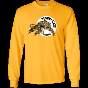 2ba3d254 Hamilton Tiger Cats Retro CFL Logo G240 Gildan Long Sleeve T-Shirt ...