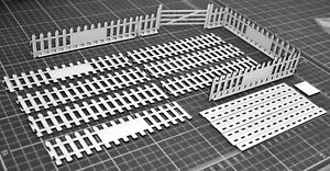 1-32-Escala-Kit-de-valla-de-Paneles-Puerta-Vintage-para-Scalextric-Otros-Disenos-estatica