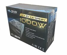 New SHARK 1000W Active PFC 2x PCI-E Quiet 120mm Fan GTX970 Turbo Gaming PC PSU