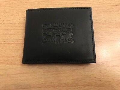 Black Bnwt Moderate Kosten Gelernt Levi's Vintage Two Horse Vertical Leather Wallet Herren-accessoires