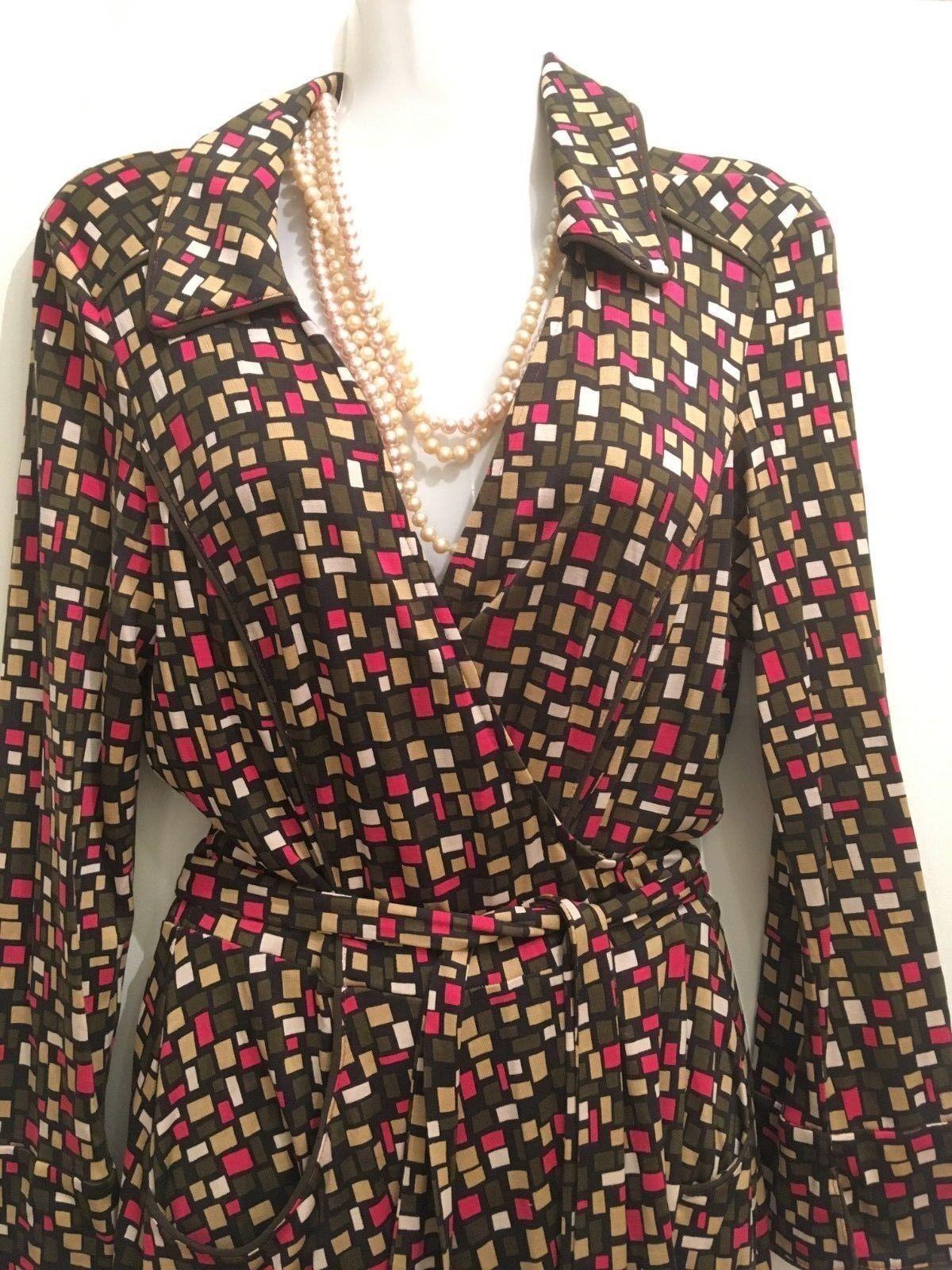 Diane Von Furstenberg DVF  Envoltura Vestido Talla 8, 100% Seda, Excelente Estado  productos creativos