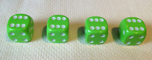4-x-Lime-Green-White-Pips-Dice-Dust-Valve-caps-bike-retro-80-039-s
