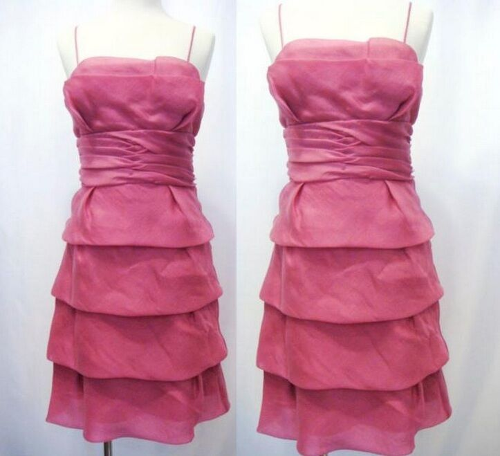 NWT Max & Cleo by BCBG MaxAzria Party Tier Layer Pink Gown Dress 8 M