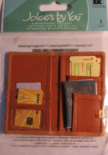 JOLEE/'S BOUTIQUE PASSPORT HOLDER 1 PC STICKER SCRAPBOOK CRAFT VACATION TRAVEL
