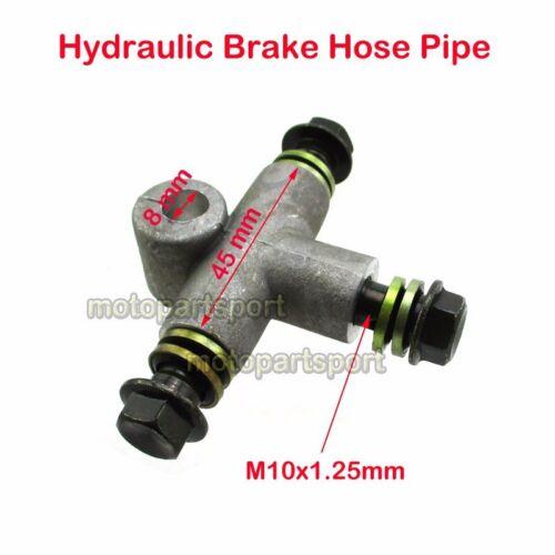 Hydraulic Brake Hose Pipe Tee Coupling Tee Fitting Tee Connector ATV Motorcycle