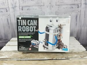 4M-Green-Science-Tin-Can-Robot-Fun-Mechanics-Kids-Project-Kit-New-in-sealed-box