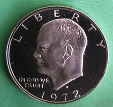 1972 S Eisenhower Dollar PROOF Silver Ike $ 1972 US Mint 40% Silver Coin