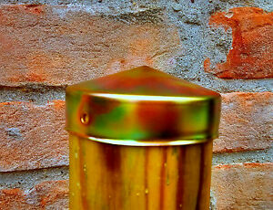protection pour poteaux en bois ronds chapeau galvanisé Capuchon de poteau