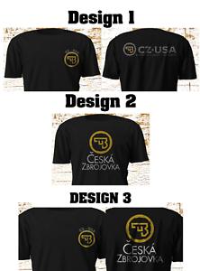 Nouveau-CZ-USA-CESKA-ZBROJOVKA-Firearms-Guns-Logo-Black-T-Shirt-S-5XL