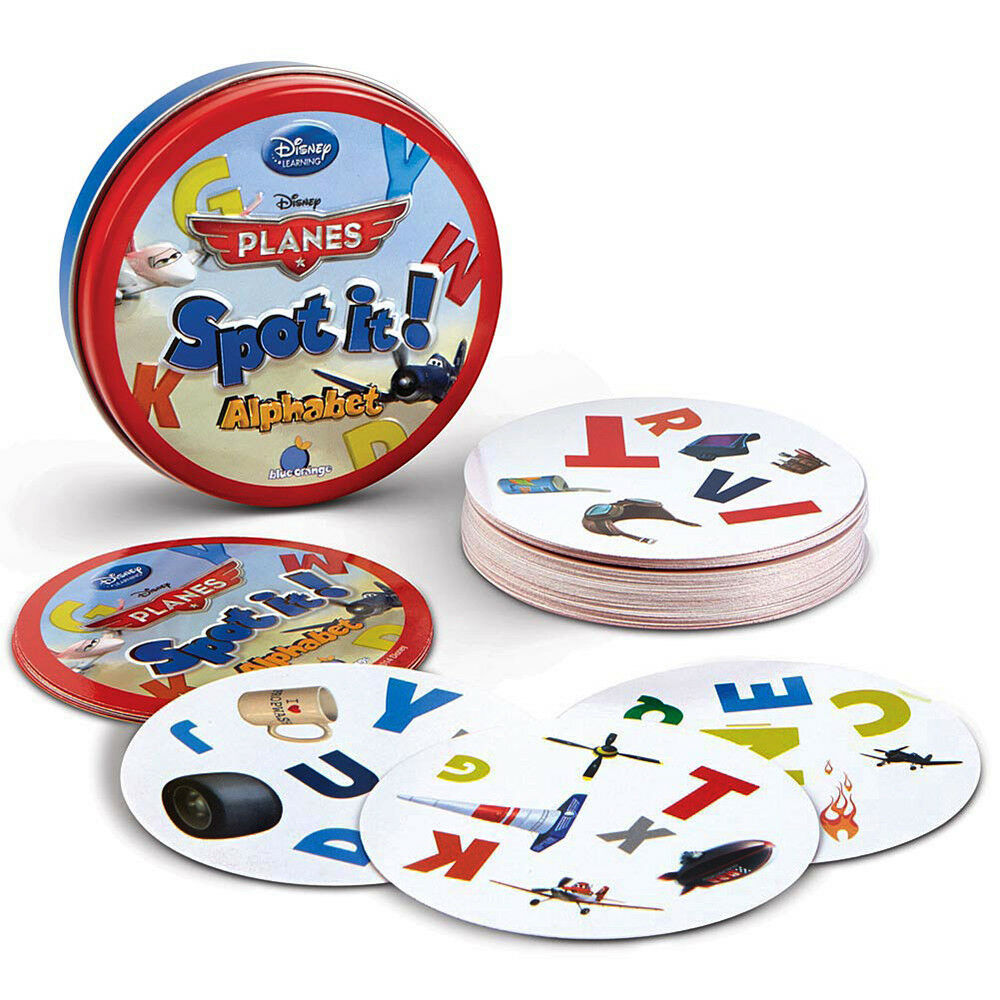 Disney Spot It Game Alphabet Learning Educational Toy Pictures Letters Matching 3