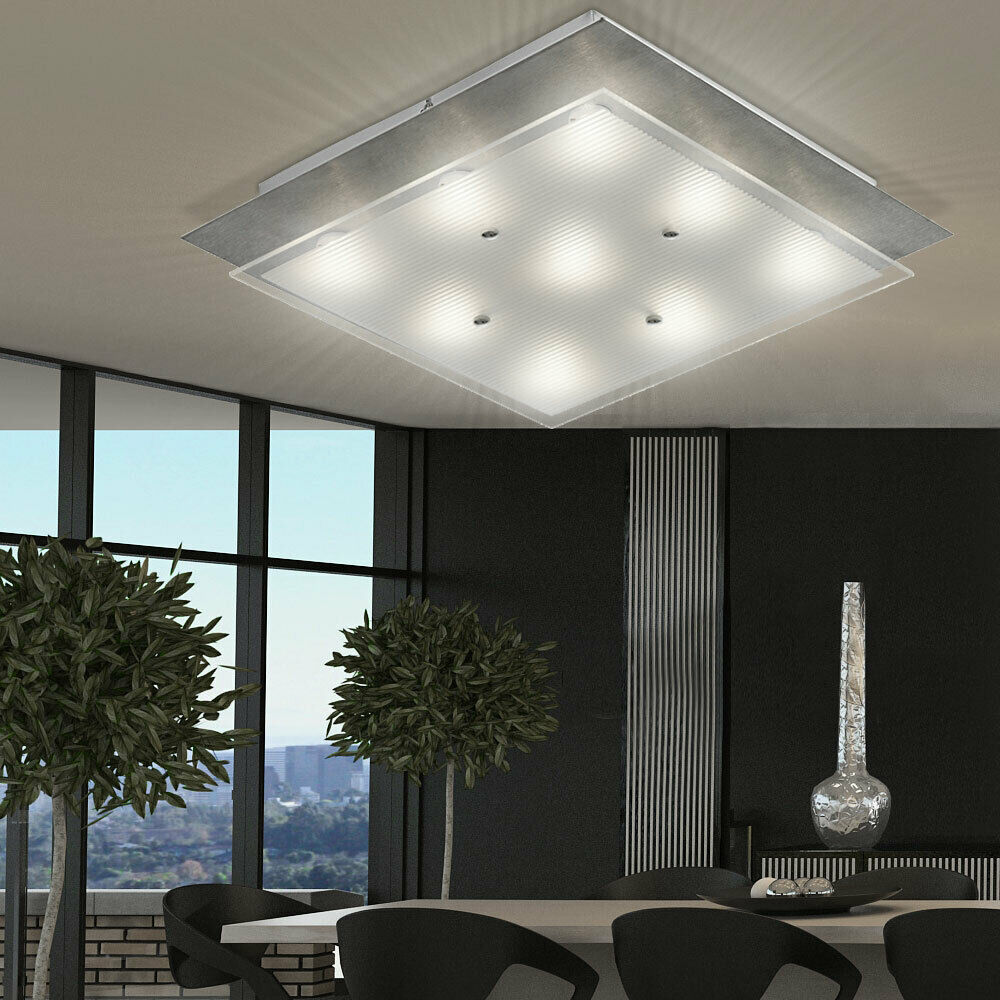 36 W COB LED Quadrat Decken Leuchte Stahl Diele Wohn Ess Schlaf Living-XXL