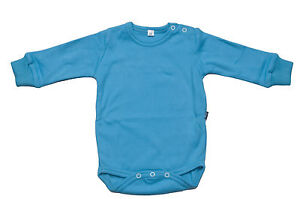 BABY-BODYSUIT-FULL-SLV-0-24m-SHOULDER-POPPERS-100-COTTON-TURQUOISE-BLUE