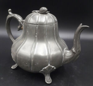 vintage pewter tea pot thomas otley & sons sheffield extra hard britannia metal