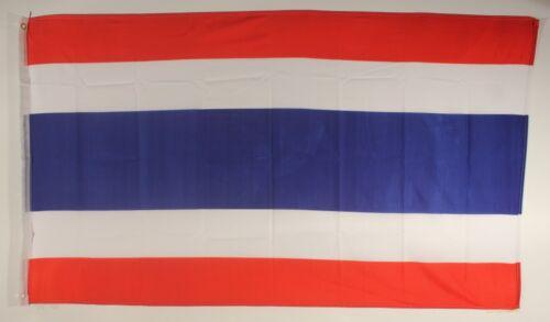 LA THAÏLANDE Drapeau 90 x 60 cm Résistant aux intempéries drapeau œillets Intérieur Extérieur Hissflagge FLAG NEUF