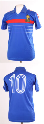 FRANCE EURO 84 1984 RETRO PLATINI 10 BLUE FOOTBALL SHIRT MAILLOT SMALL S