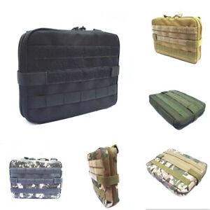 Tactical Molle Large Magazine Organizer Utility EDC Phone Medic Belt Pouch Bag