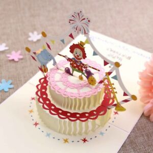 Cake 3d Pop Up Cards Happy Birthday Valentine Lover Anniversary