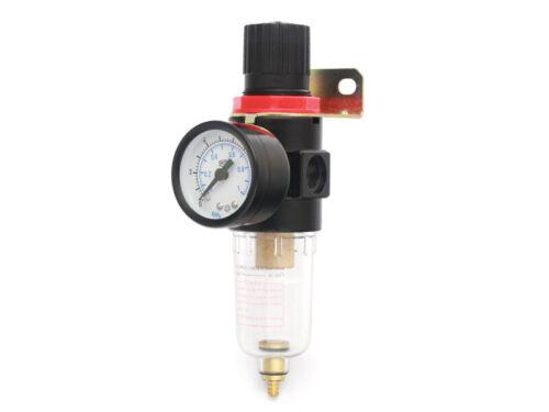 Reductor de presión-regulador de presión compacto con manómetro y separador 1//8 pulgadas,