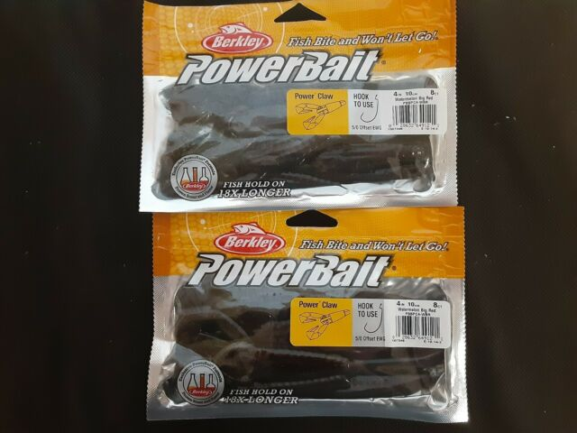 """Berkley Powerbait 4/"""" Power Lizard watermelon red 15 count package NIP"""