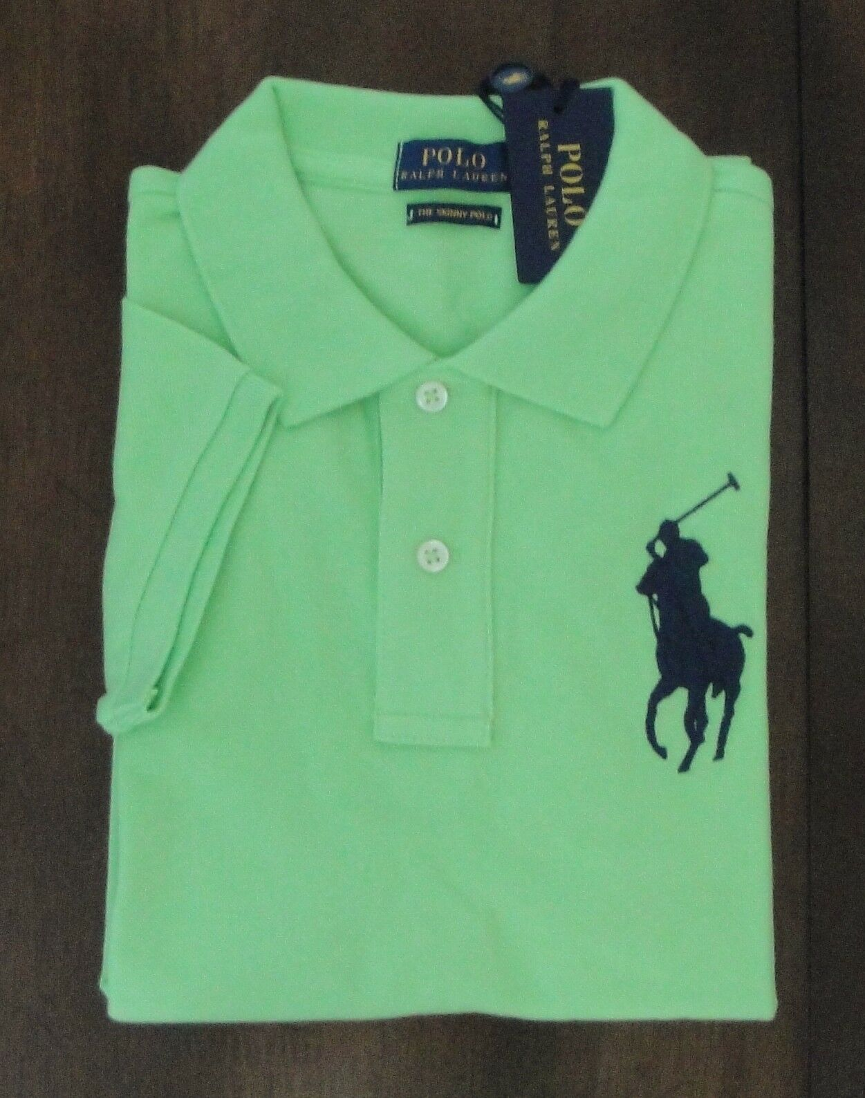 NWT Ralph Lauren Woherren SS Skinny Fit Mesh Big Pony Polo Shirt Sz S M L NEW