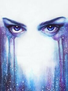 Details About Abstract Women Eyes Colourful Drawing Wall Art Photo Poster Canvas Pictures