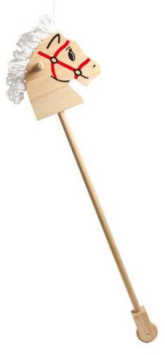 Steckenpferd Holzca Holzspielzeug 86 x 20 x 20 cm Reittier Pferd Laufpferd