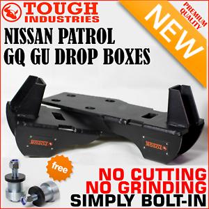 NISSAN-PATROL-GQ-GU-DROP-BOXES-TO-SUIT-3-034-4-034-5-034-INCH-SUSPENSION-LIFT-KIT-4-x-4