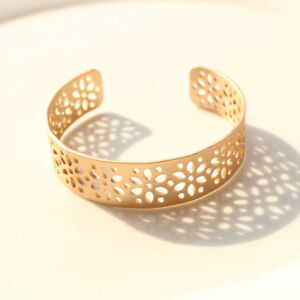 New-Chicos-Floral-Daisy-Open-Bangle-Bracelet-Gift-Fashion-Women-Party-Jewelry-FS