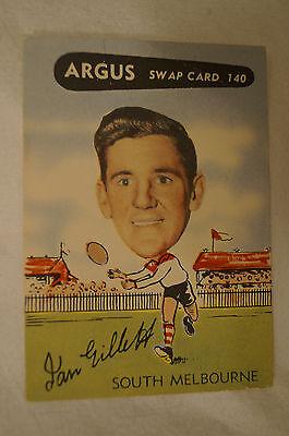 South Melbourne - 1954 - Vintage - Argus - VFL Football Card - Ian Gillett.